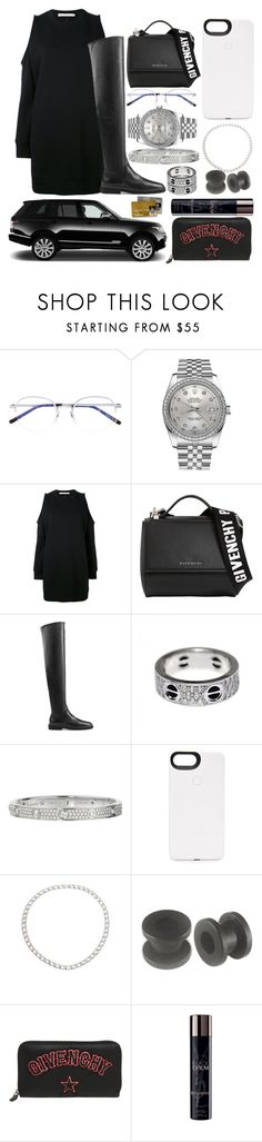 """""""dinner"""" by sabri-belieber ❤ liked on Polyvore featuring Yves Saint Laurent, Rolex, Givenchy, Sergio Rossi, Cartier, LuMee and Vita Fede"""
