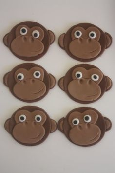 12 Fondant cupcake toppersmonkey by PastelFiesta on Etsy, $14.50