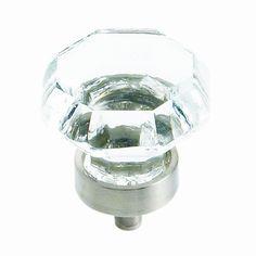 $6.29.  Amerock BP55268CG10 Traditional Classics Crystal Knob, Satin Nickel, 1-Inch Diameter