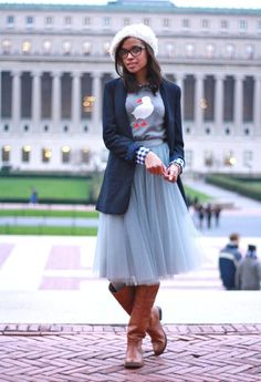 dressed down tulle