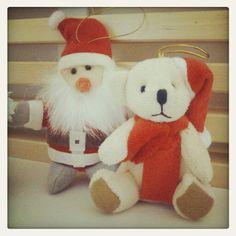 Peluches de Papa Noel. Navidad. Christmas.
