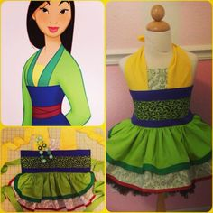 Disney's Mulan Inspired girls Dress-Up costume Apron