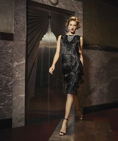 """""""Diamond in the Sky"""" - """"Fringe Benefits"""" - Michael Kors Collection dress - Photo by Michael Avedon"""