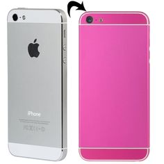 [USD27.35] [EUR24.86] [GBP19.29] Full Assembly Replacement Metal Housing Cover with Appearance Imitation of iPhone 6 & 6S for iPhone 5, Including Back Cover & Card Tray & Volume Control Key & Power Button & Mute Switch Vibrator Key, White Line(Magenta)