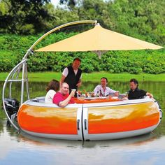 BBQ Boat  on Yellow Octopus  #giftsformen #fathersday #fathersdaygiftideas #gifts #bbq #boat