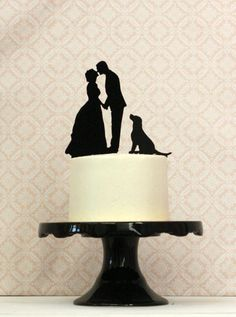 Commission a Custom Pet-Inspired Cake Topper | 29 Perfectly Adorable Ways To Include Your Pet In Your Wedding