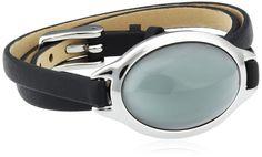 Skagen Damen-Armband Edelstahl Leder Glas blau 60.0 cm - SKJ0390040: Amazon.de: Schmuck 59,00 Euro