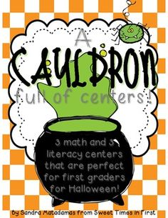 A Cauldron Full of Centers {Halloween Math & Literacy Centers