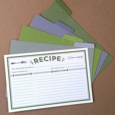 Classic Recipe Cards