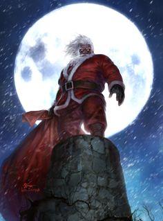 Santa Claus 2015, InHyuk Lee on ArtStation at https://www.artstation.com/artwork/zQ9KD