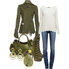 """Army Girl"" by deborah-simmons on Polyvore"
