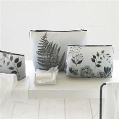 Jindai Graphite Large Washbag | Designers Guild