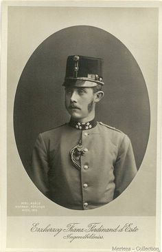 A photo of a very young Archduke Franz Ferdinand of Habsburg-Este  1863 – 1914