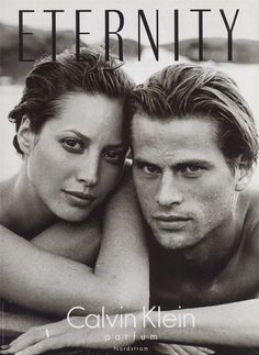 Mark Vanderloo & Christy Turlington by Peter Lindbergh for Eternity by Calvin Klein 1995