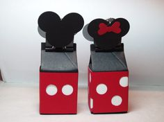 Mickey and Mini with Stampin' Up! milk carton die.