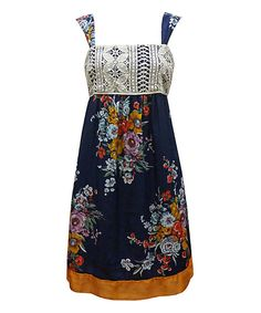 Look at this Nick & Mo Navy Garden Party Dress on #zulily today!