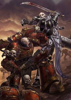 "Illustration for ""Warhammer Conquest"" © Fantasy Flight Games Baar Zul Bloodied Warhammer 40k Rpg, Warhammer Models, Warhammer 40k Miniatures, Warhammer Fantasy, Dark Fantasy Art, Sci Fi Fantasy, Chaos Daemons, Martial, Space Marine"