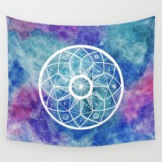 Buy Watercolour Cosmic Mandala by Laurel Mae as a high quality Wall Tapestry. Worldwide shipping available at Society6.com. Just one of millions of products available.