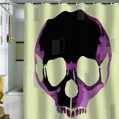 Skull shower curtain