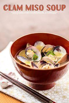 Clam Miso Soup (あさりの味噌汁) | Easy Japanese Recipes at JustOneCookbook.com