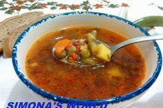 Ciorba de legume cu bors Vegetarian Recipes, Cooking Recipes, Healthy Recipes, Healthy Meals, Vegan Soup, Vegan Foods, Chana Masala, Soups And Stews, Thai Red Curry