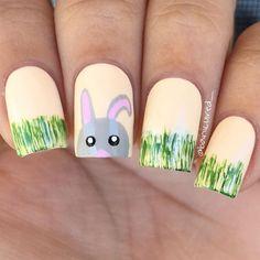 Easter Bunny Nail Art