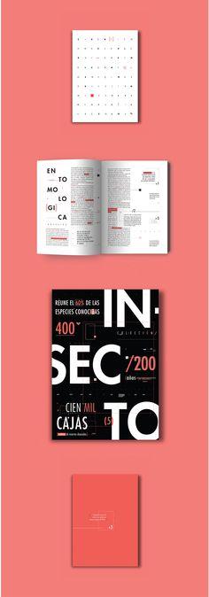 Desplegable tipográfico realizado a partir de una palabra asignada (colección) y la elección de un texto relacionado con la misma. Diseño I | Cátedra Gabriele | FADU | 2016.