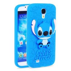 Cartoon Cuties Blue Stitch Silica Gel Case Cover Skin Cover for Samsung Galaxy SIV Cool Iphone Cases, Ipod Cases, Cute Phone Cases, Disney Phone Cases, Note 3 Case, Samsung Galaxy S4 Cases, Cute Cases, Stitches, Galaxies