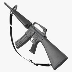 model: This Assault Rifle 2 is a high quality, photo real model that will enhance detail and realism to any of your rendering projects. The model has a fully textured, detailed design that . M16 Rifle, Assault Rifle, Military Weapons, Weapons Guns, Military Brat, Shooting Guns, Tactical Gear, Tactical Survival, Drawing Poses
