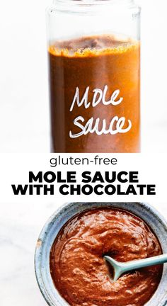 A gluten-free Quick Mole Sauce that will have you mmmm-ing your way through each bite of dinner. Made simple and easy with pasilla pods, almond butter, spices, and a little dark chocolate, this mole sauce recipe is hosting all the authentic mole sauce flavors you're craving!