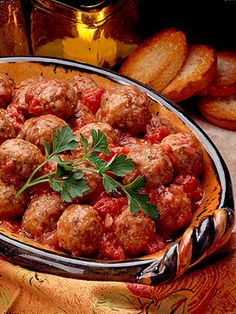 Cumin and nutmeg spice these ground beef and pork appetizer meatballs.