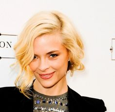 Jaime King wears a sexy updo with a deep side part