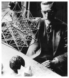 M.C. Escher with his models