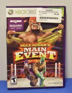 Hulk Hogan's Main Event (Microsoft Xbox 360, 2011) xbox 360 video game w/booklet