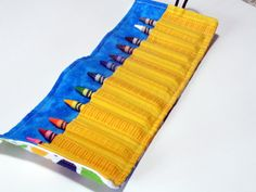 Crayon Roll with Whale Print holds 12 crayons by LittleSnapdragon, $10.00