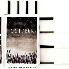 Get inspirations from my October Bullet Journal Set-Up. Be creative with 4 weekly spread designs and different layout ideas for your monthly and weekly goals. Plus learn how to create easy watercolor paintings, quotes, and doodles with my step-by-step guide. Perfect for minimalist and bullet journal beginners! #October #BulletJournal #Theme
