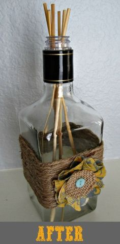 How to turn your liquor bottles into reed diffusers! Green craft, upcycling, recycling