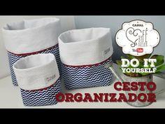 DIY::: Cesto Organizador - By Fê Atelier - YouTube