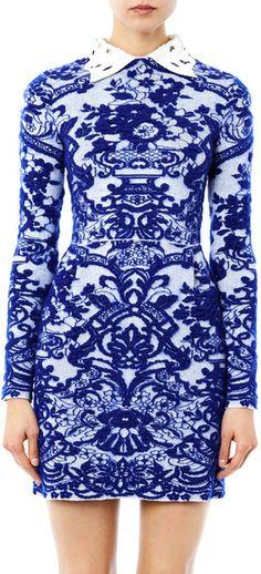 Delft Intarsiaknit Dress - Lyst Little Dresses 38d6b9856d14c