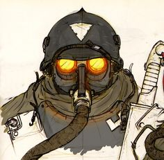 Soldier face concept, Lapo Roccella on ArtStation at https://www.artstation.com/artwork/XDPNL