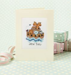 Sweet sailors: Celebrate an exciting new arrival with Jenny Barton's Noah's Ark card on page 38 of our September 240 issue of CSC: http://www.crossstitchcollection.com/subscribe-cross-stitch-collection/