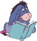 .Two of my favorite things, Eeyore and Books!