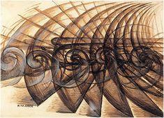 SPIRALS Giacomo Balla, Shape Noise Motorcyclist - Italian Futurism in art embraced speed and locomotion Futurist Painting, Giacomo Balla, Italian Futurism, Futurism Art, A Level Art, Gcse Art, Art Moderne, Italian Art, Art Lessons