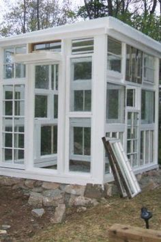 Green house from salvaged windows. THIS is what I've ALWAYS wanted to do!!!