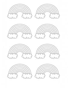 free printable rainbow coloring pages - Printable Rainbow Coloring Pages