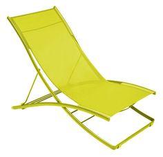Scopri Chaise longue Plein Air -/ Pieghevole - 2 posizioni, Verbena screziato di Fermob, Made In Design Italia