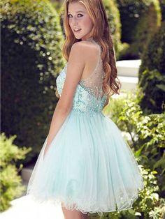 Short homecoming dress,mint homecoming dress,beads homecoming dress,sweetheart…