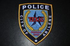 Abilene Police Patch, Jones County, Texas (Current Issue)