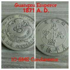 Collection Old Silver Dollar Qing Empire Daoguang emperor Dragon Dollar Coin