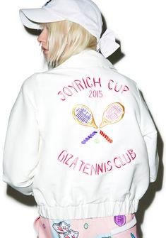 5665a905550f Joyrich X GIZA Tennis Club Cropped Jacket Tennis Clubs